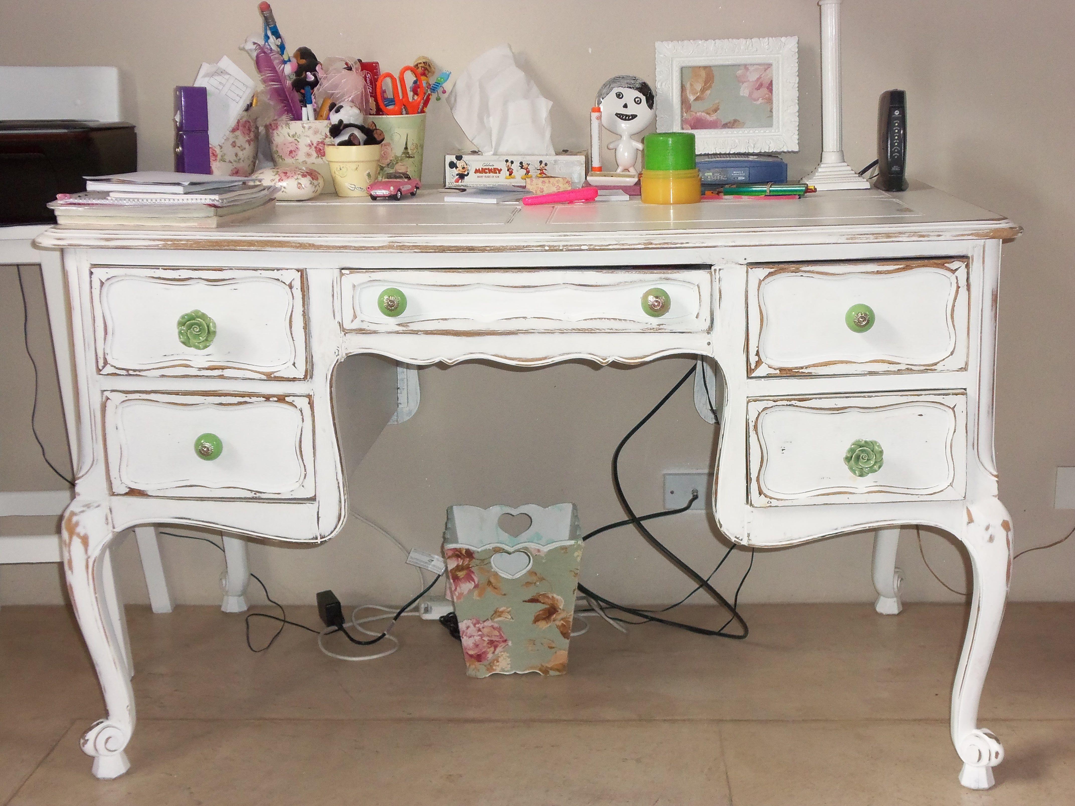 Escritorio romantico antiguo escritorios pinterest escritorios muebles reciclados y reciclado - Muebles romanticos ...
