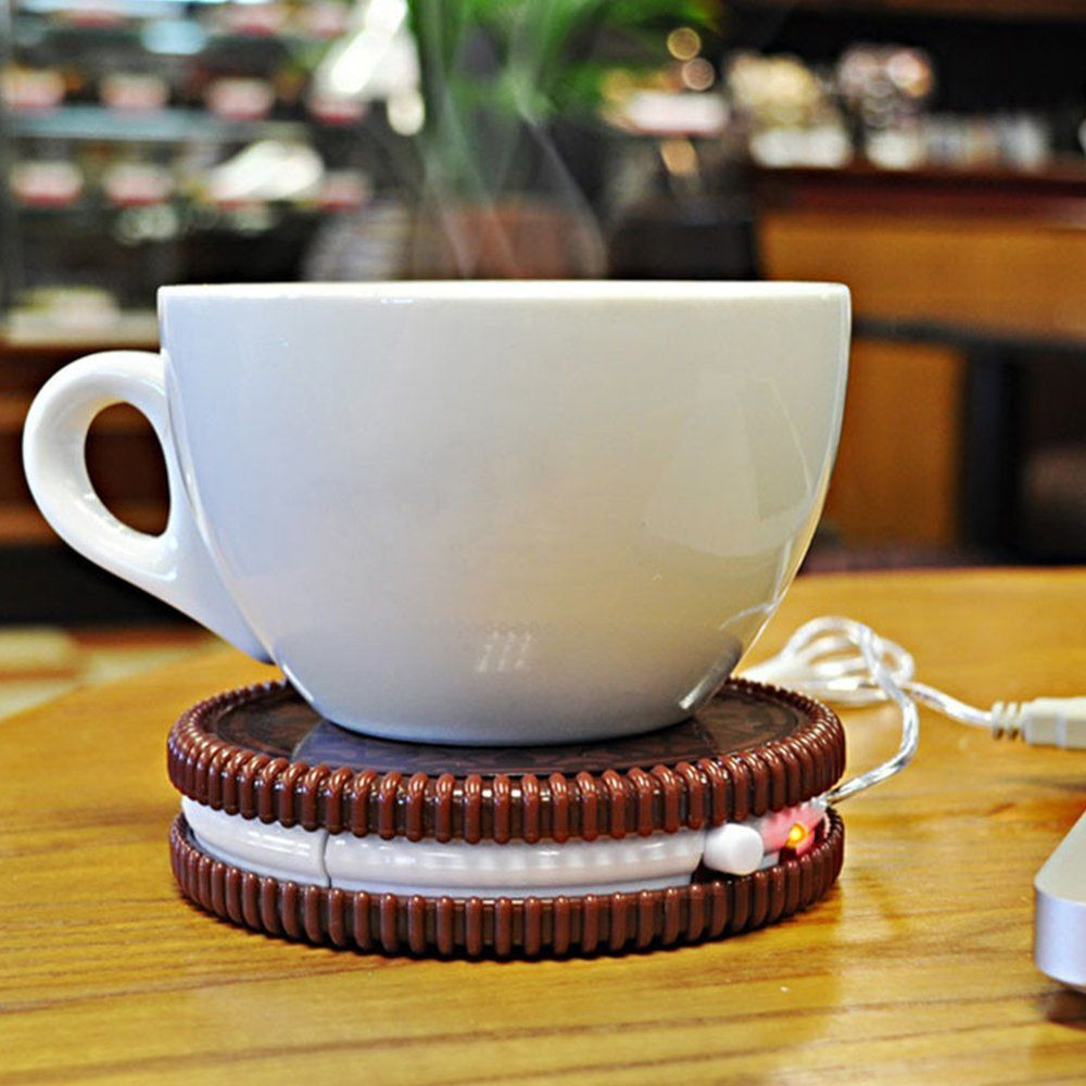 Plate Warmer Shape Cookie Coffee Tea Cup Heater Beverage Abs Usb nwPkXNO80