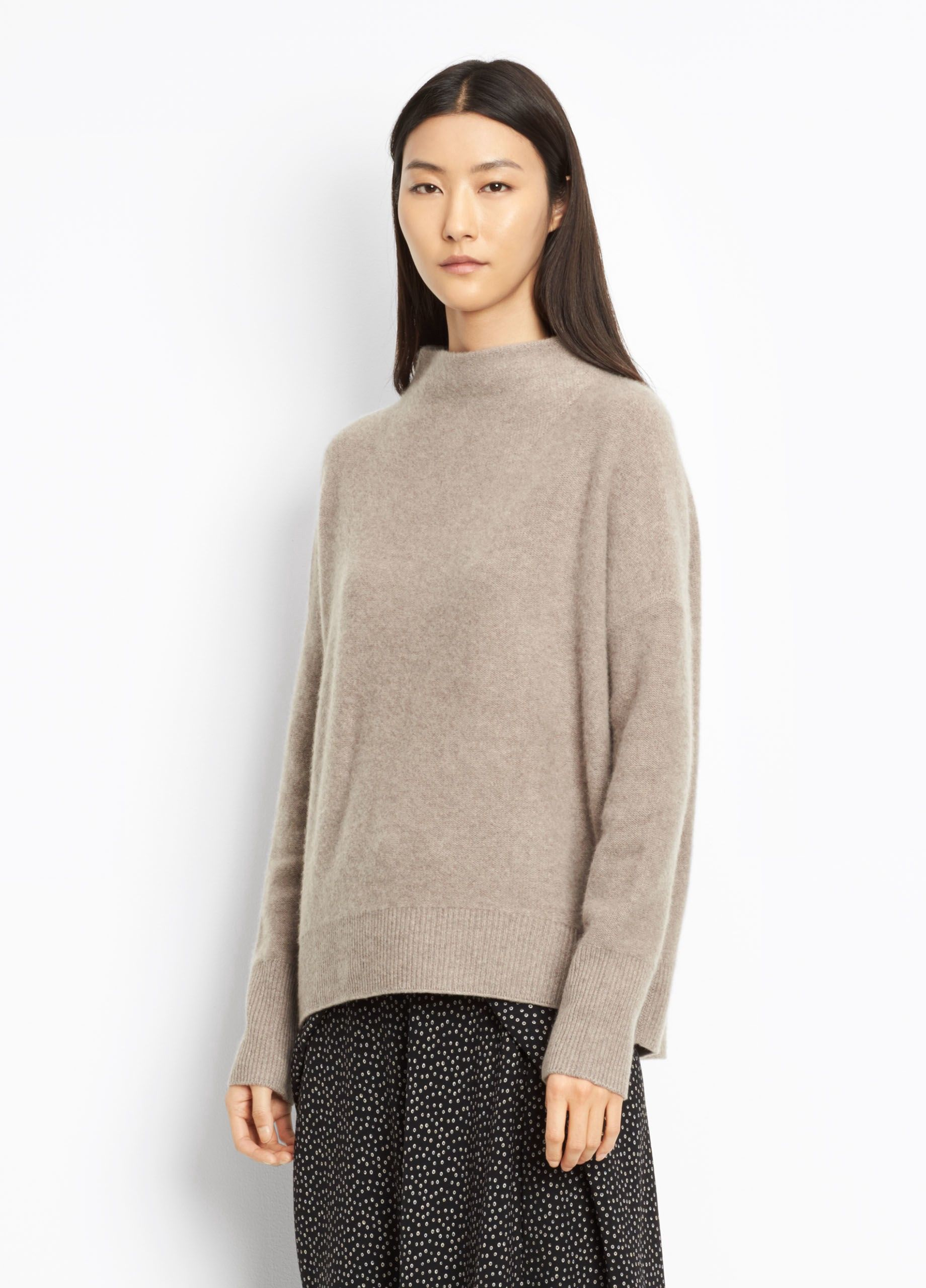 35e138292 VINCE Cashmere Funnel Neck Pullover - Heather Taupe.  vince  cloth ...