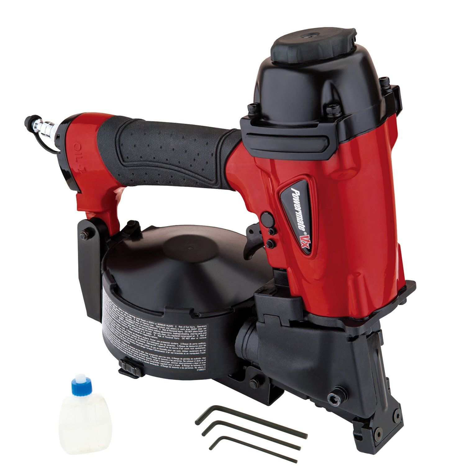 Powermate VX CRN175P Coil Roofing Nailer, Red >>> To view