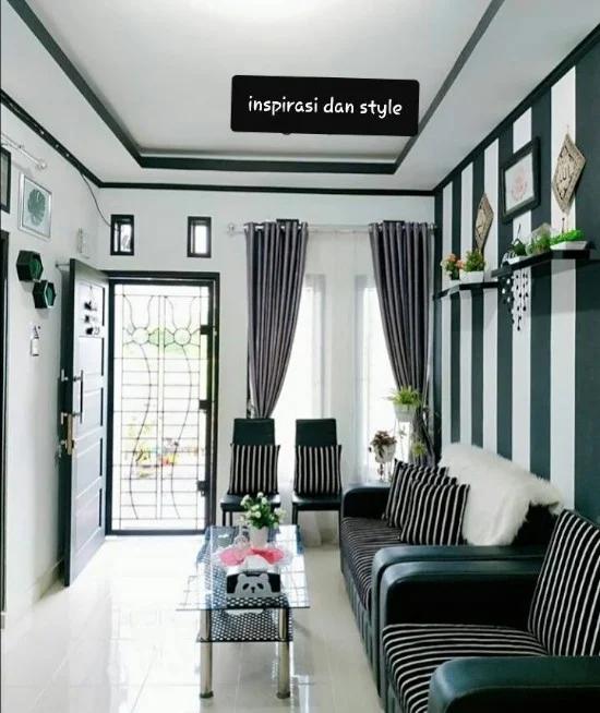 8 Desain Ruang Tamu Minimalis Ukuran 3x4 Dengan Tema Hitam Putih Desain Interior Ide Dekorasi Dinding Ruang Tamu Dekorasi Dinding Ruang Tamu