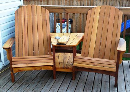 Double Adirondack Chairs  Furniture  Lawn furniture