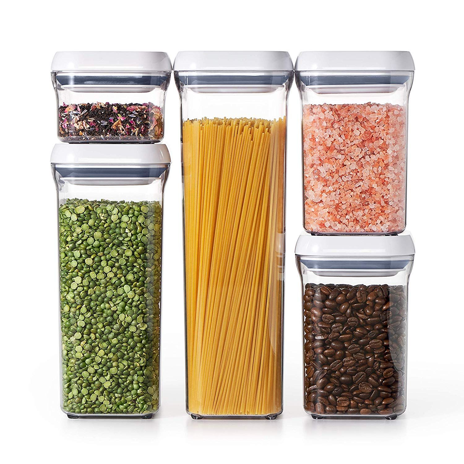 Set includes one 2.1qt Container, one 1.5qt Container