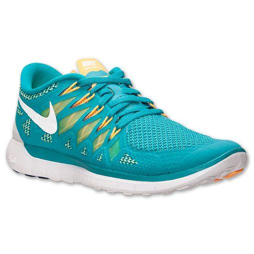 Women's Nike Free 5.0 2014 Running Shoes| FinishLine.com | Turbo Green/Light Lucid Green/Kumquat
