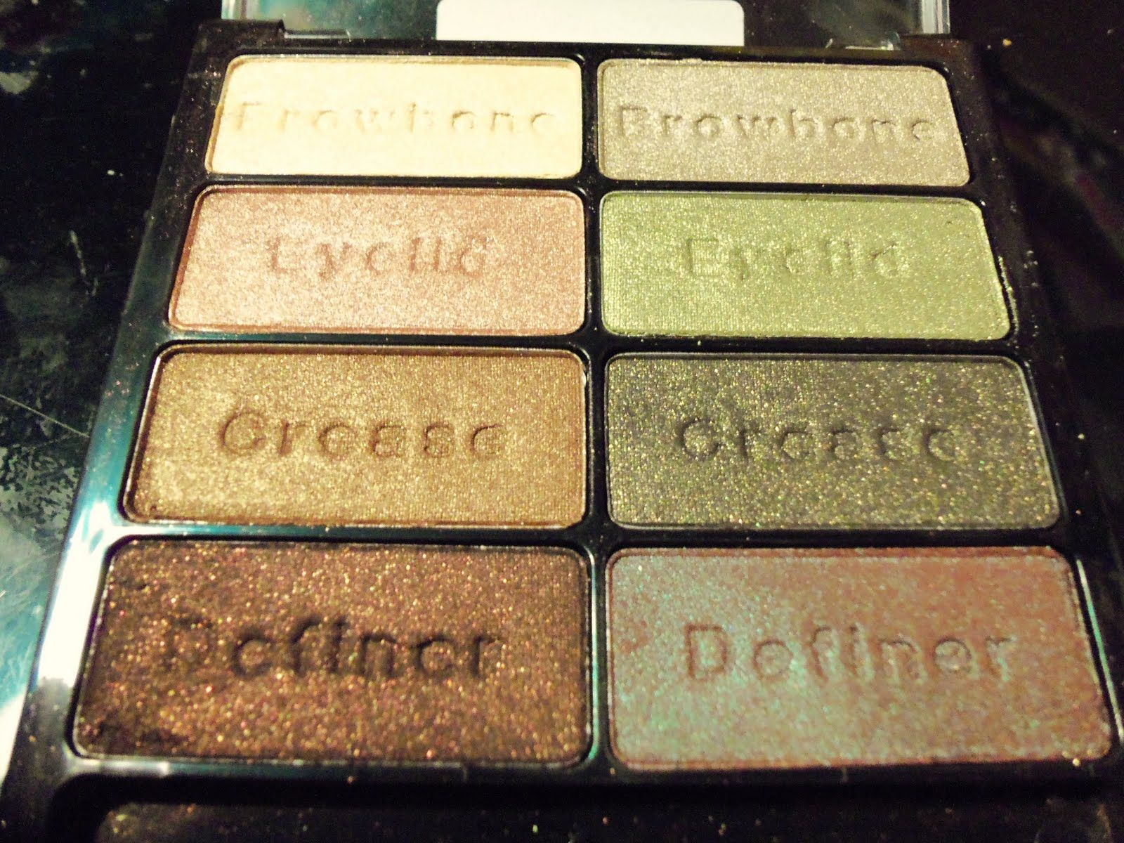 I love wet and wild eyeshadow pallets, super pigmented, beautiful colors!  and if you just beginning it tell you where to put the shadow :)