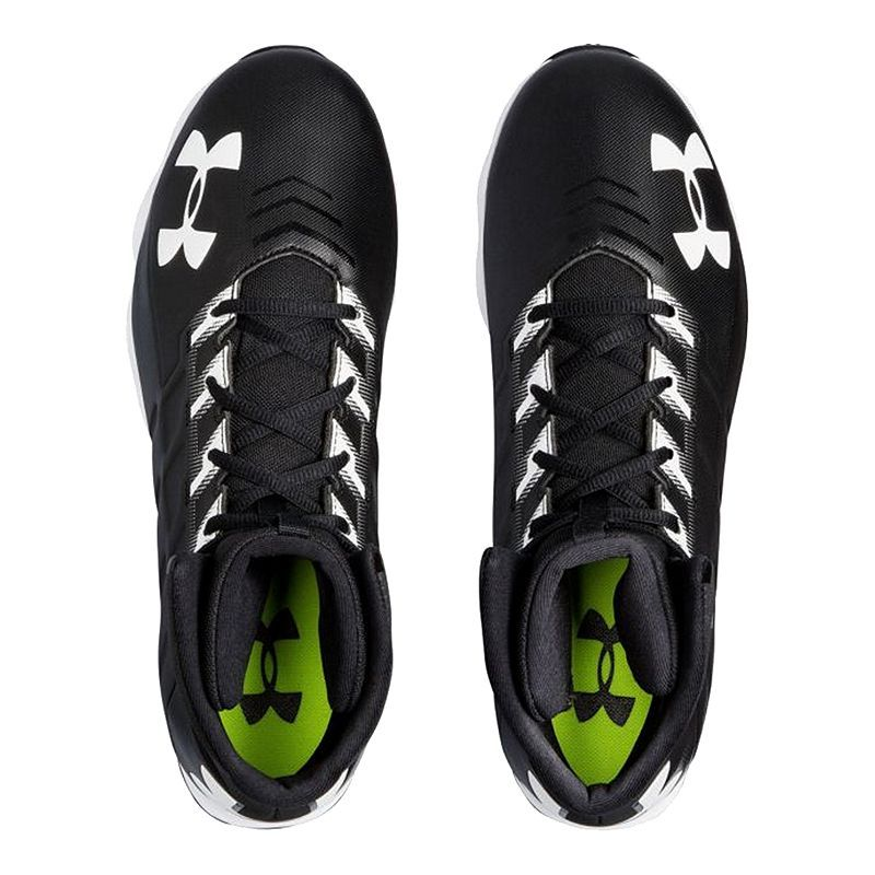 New Under Armour UA Renegade MC Mid Mens Football Cleats White Black WAS 99