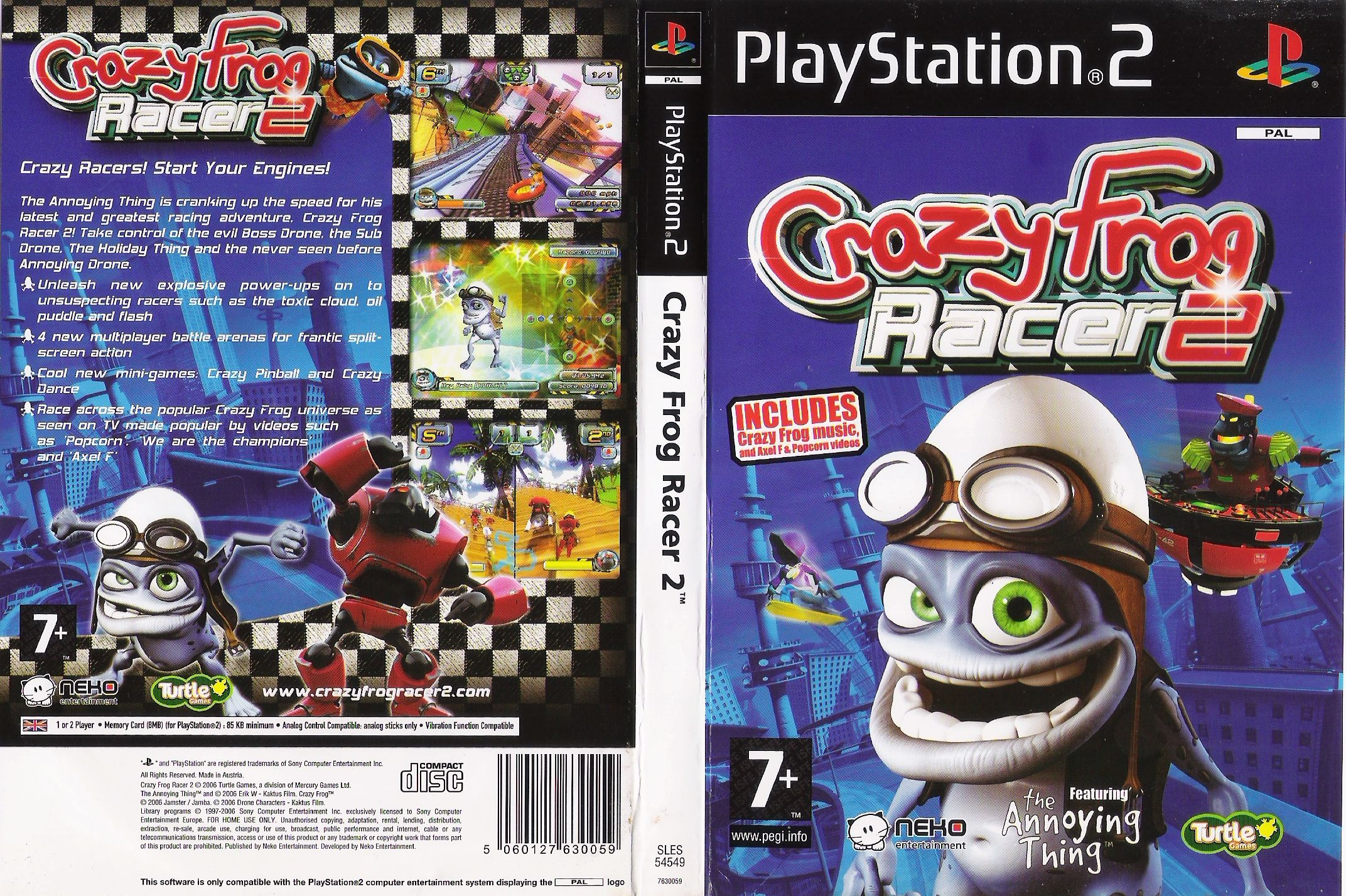 Crazy Frog Racer PS2 cover  092d8c6d52207