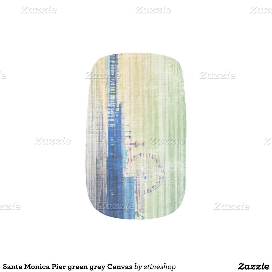 Santa Monica Pier green grey Canvas Minx Nail Wraps | Minx nails ...