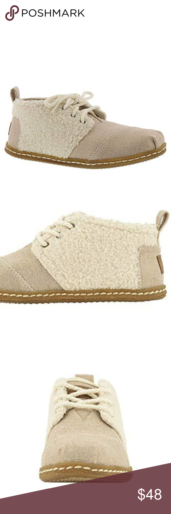 NEW Toms faux shearling shoes sz 65