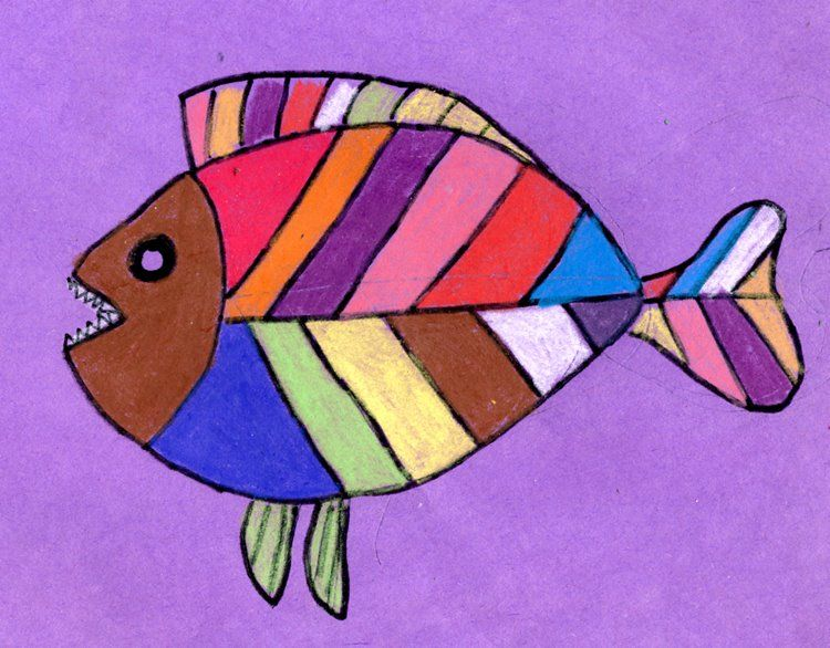 Abstract fish drawing abstractart