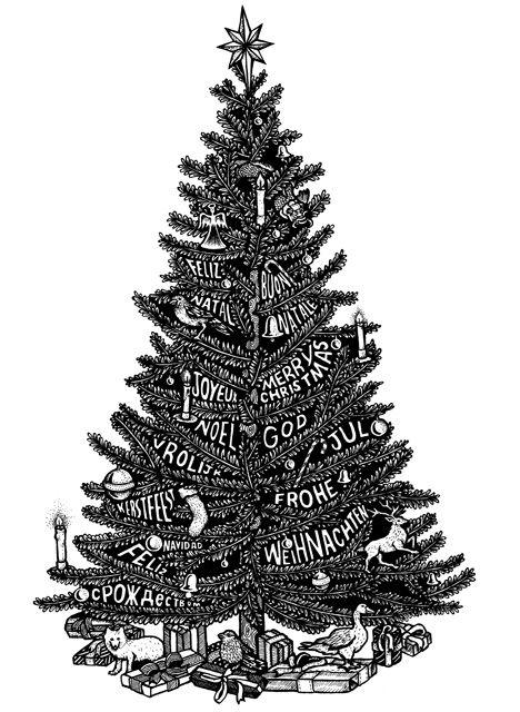 Christmas Tree Drawing Christmas Tree Drawing Tree Drawing Drawings