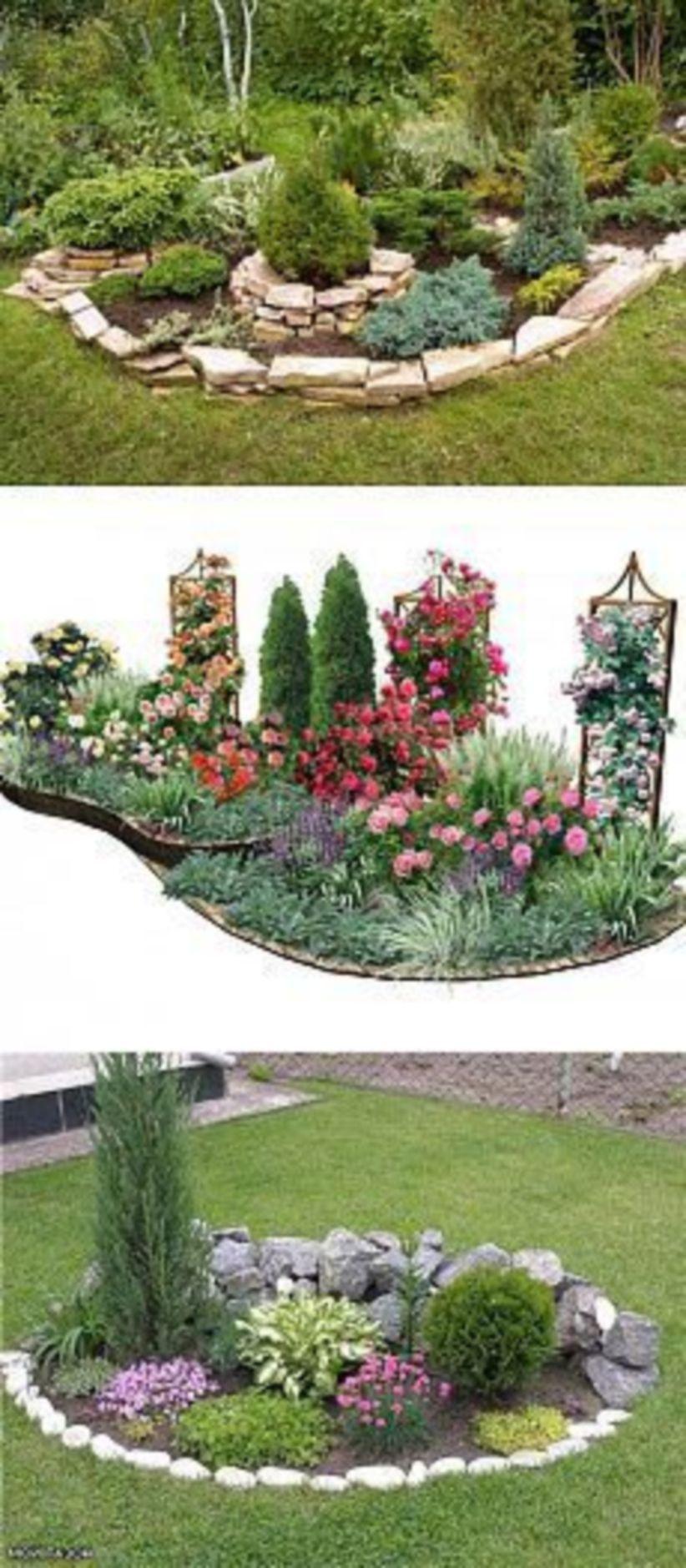 53 Cool Backyard Pond Design Ideas: 53 Great Front Yard Rock Garden Ideas