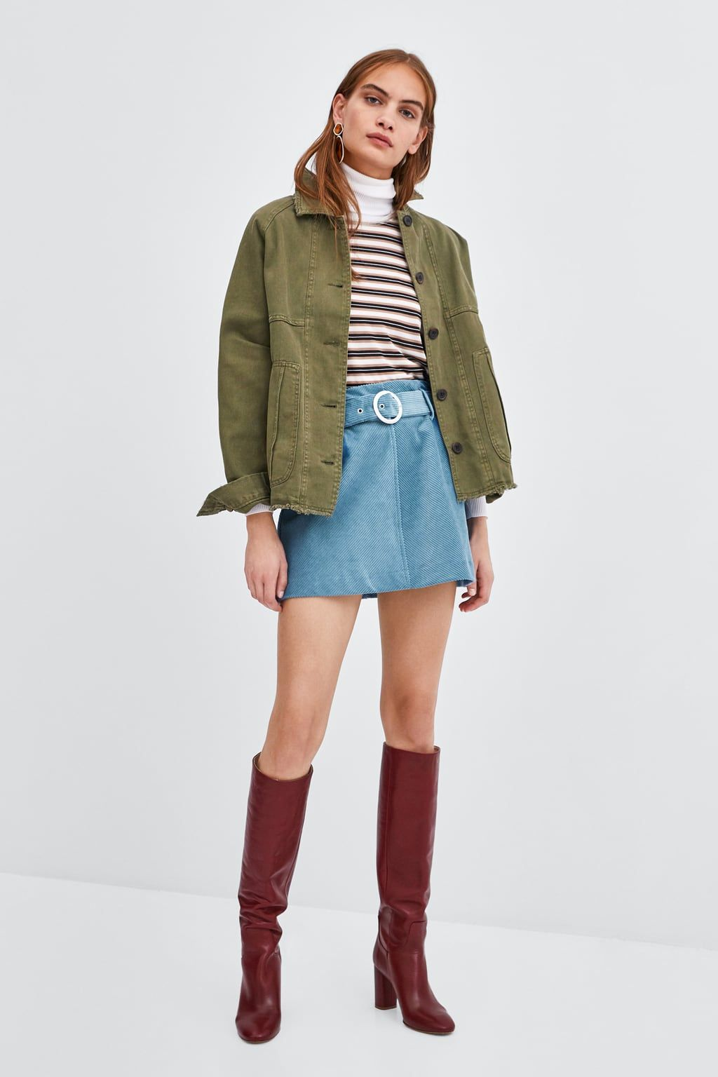 fa792f8cc MINIFALDA PANA CINTURÓN en 2019   Moda   Mini faldas, Cinturones y Zara