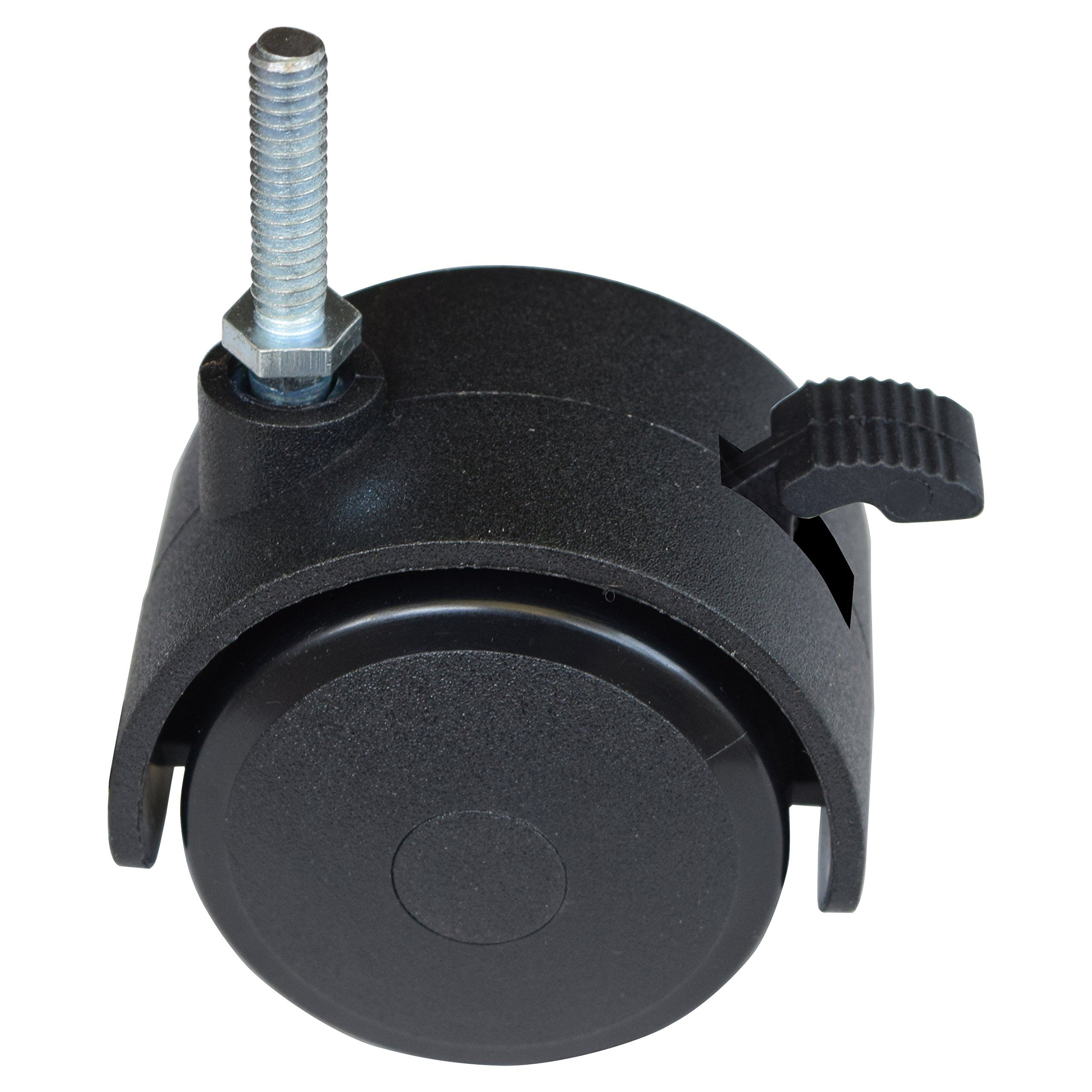 "MySit 2"" Caster Swivel Stem Caster Wheel With Locking Brake 1 4"