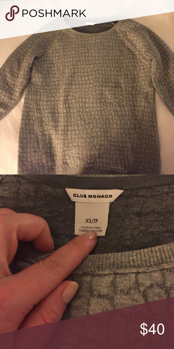 Club Monaco sweatshirt/sweater Super soft and comfortable! Beautiful fabric! Great with jeans or even a colorful pencil skirt! Club Monaco Tops