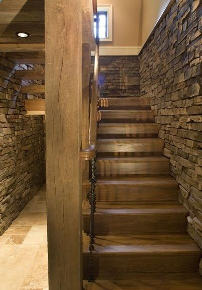 Industrial Stil Basement Stairs | Basement Remodeling, Finishing Basement