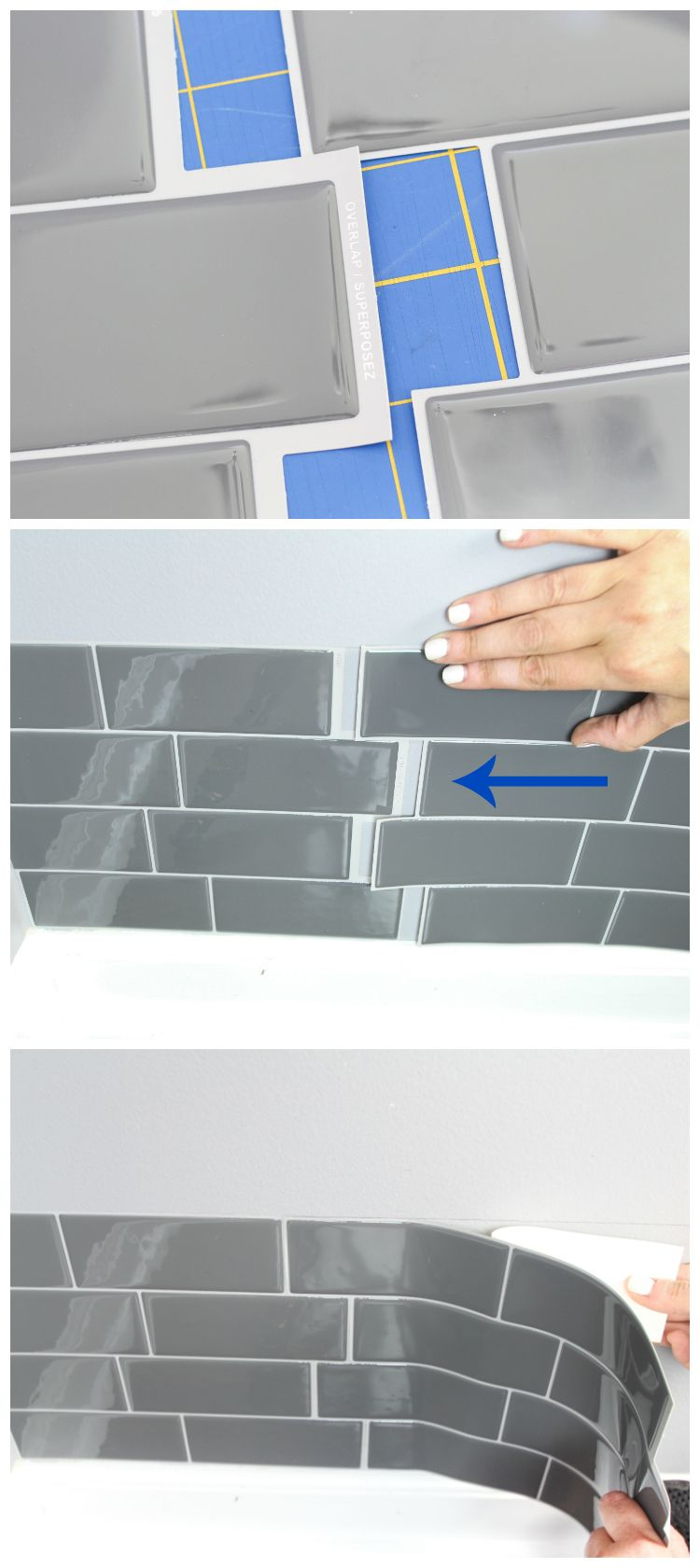 Laundry Room Refresh With Peel And Stick Backsplash Wall Tile Home - Peel-and-stick-backsplash-plans