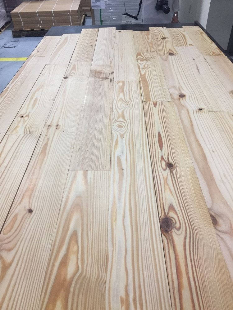 """Beasley Unfinished Pine 3/4"""" Plank Types of wood"""