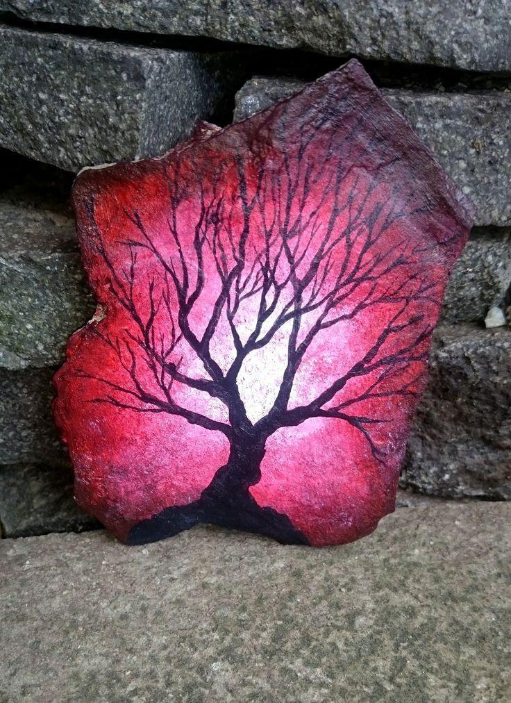 Tree on rock - SPEED PAINTING