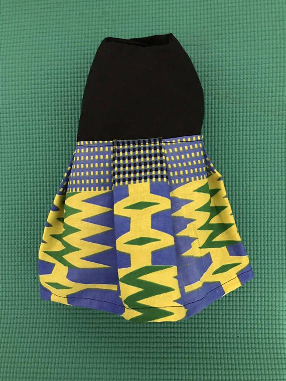 African Print Dog Dress Kente Print Dog Dress African