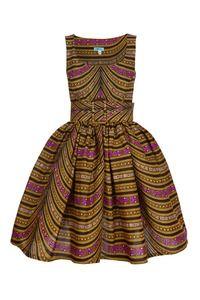 Marble multi empire line dress