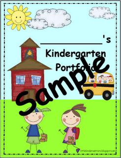 Kindergarten Portfolio Kindergarten Portfolio Teacher