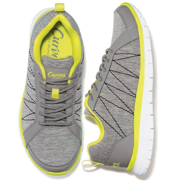 c5569ffb7eb3 Heather gray sneaker with a hot neon yellow accent. Padded collar for  comfort and treaded sole for traction. Lightweight and flexible.