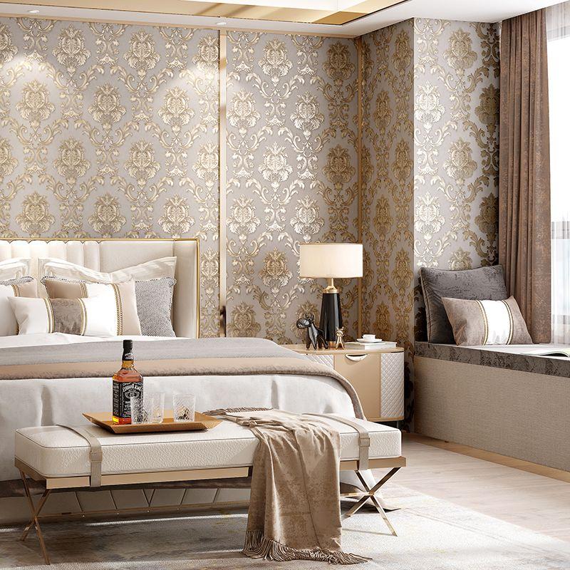 Best Beige Grey Gold Textured Luxury Classic 3D Damask 640 x 480