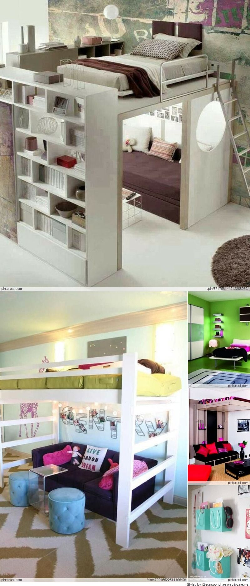 Small loft bed ideas  Room Decorating Ideas For Teenage Girls  Bedrooms for   Pinterest