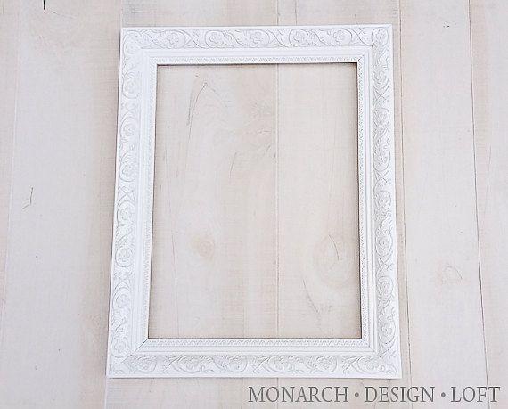 12x16 large white frame ornate shabby chic 3500 via etsywwwmonarchdesignloft
