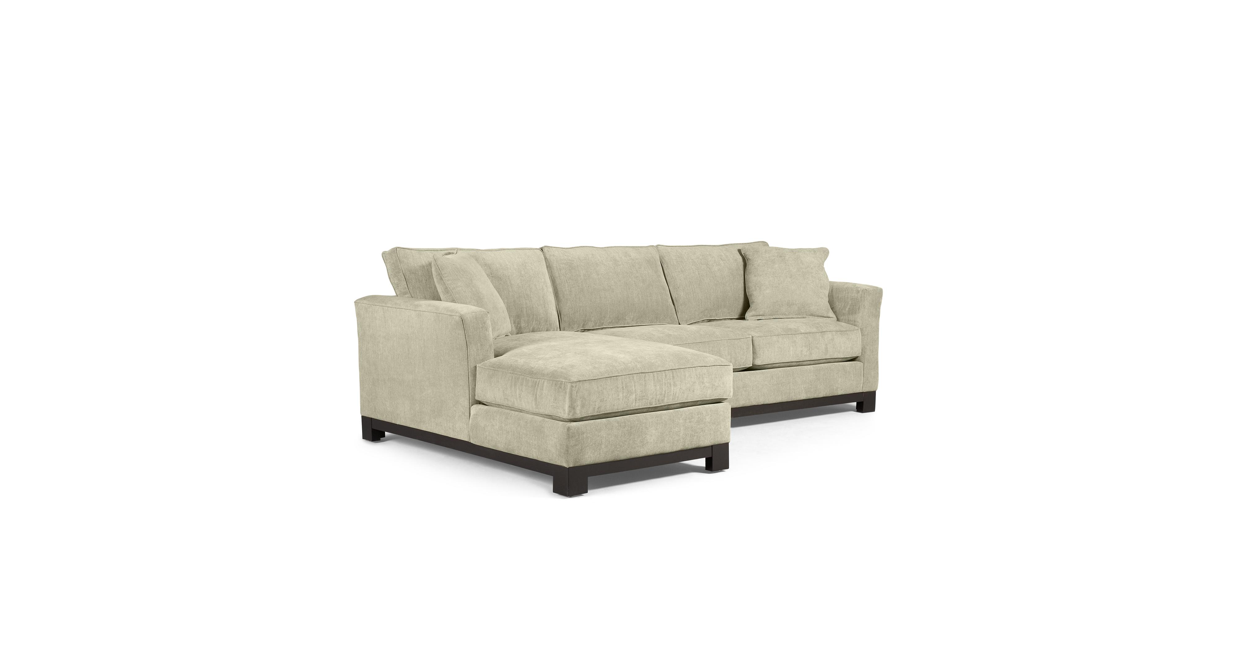 Kenton Fabric 2 Piece Chaise Sectional Apartment Sofa Custom
