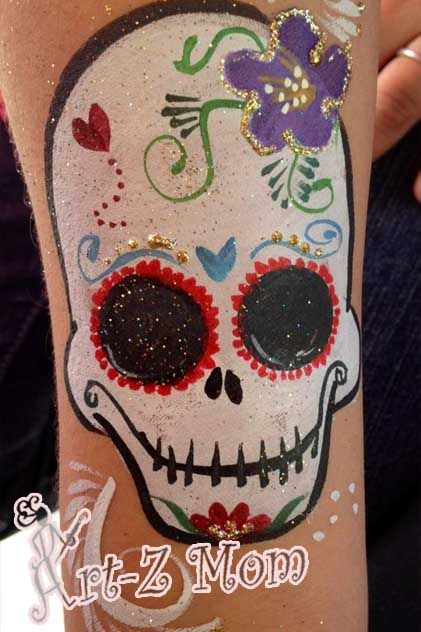 Day Of Dead Designs Tattoo Style Art Face Painting For Parties