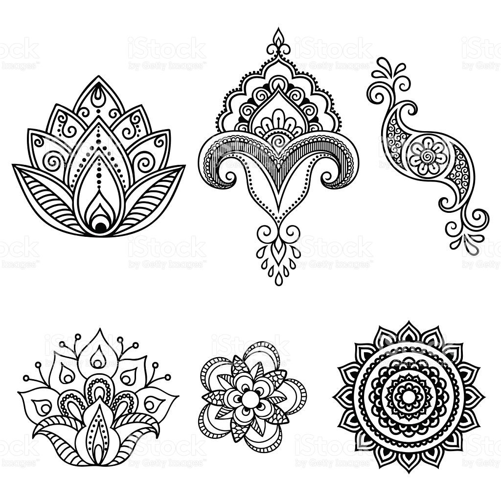 henna tattoo flower template mehndi set tattoo flowers. Black Bedroom Furniture Sets. Home Design Ideas
