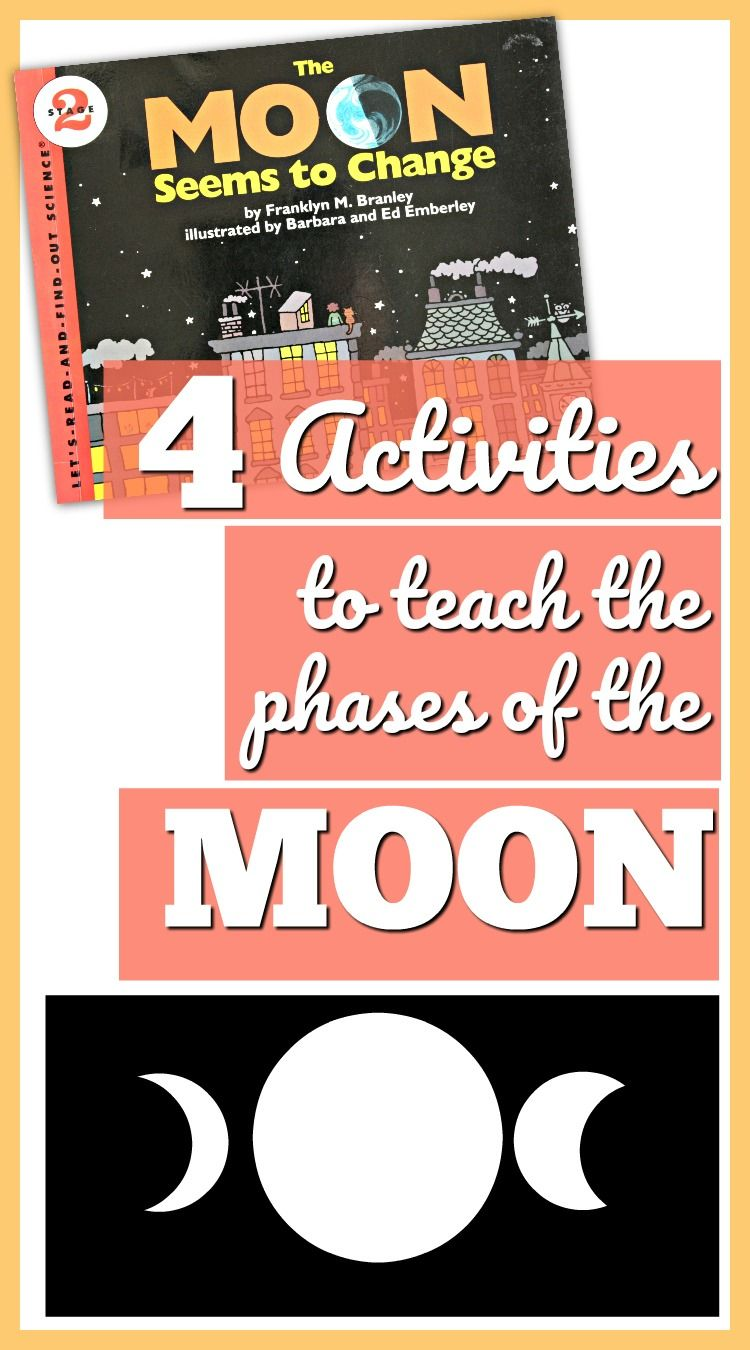 Phases Of The Moon Activities For Kids Book Ideas Plus 4 Activities Moon Activities Moon Science Elementary Stem Activities [ 1350 x 750 Pixel ]