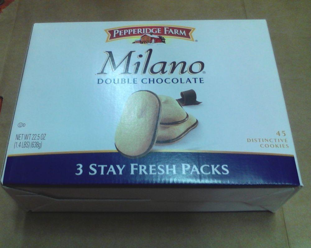 Pepperidge Farms Milano Double Chocolate Cookies (3pk of 7.05) Total 1.4lbs 638g