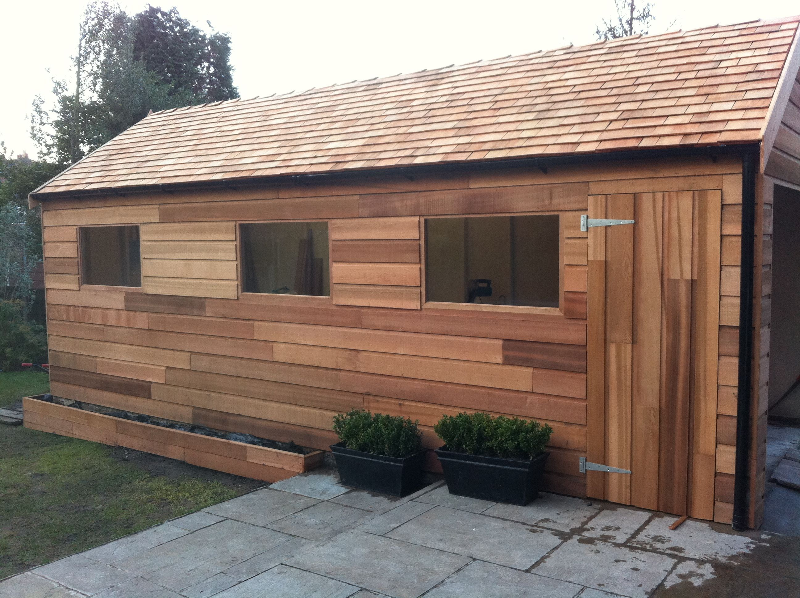 Western Red Cedar Cladding And Roofing Shingles By Darren Tidswell.  Contemporary Looking Cladding On A