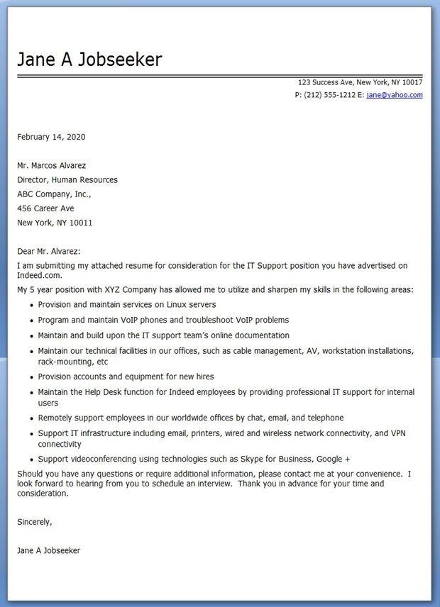 IT Professional Cover Letter PDF Creative Resume Design Templates