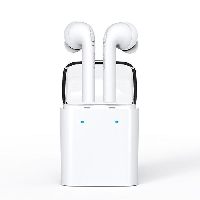 Original Dacom True Mini Wireless Bluetooth Earbud Earphone Headset For Iphone 7 7 Plus Double Twins Earphones For Smartphones Naushniki Smartfon Tehnologii