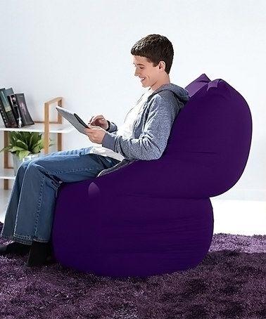 Love This Bright Purple Yogi Midi Beanbag Chair On Zulily Zulilyfinds Bean Bag Chair Bean Bag Lounger Bean Bag Gaming Chair