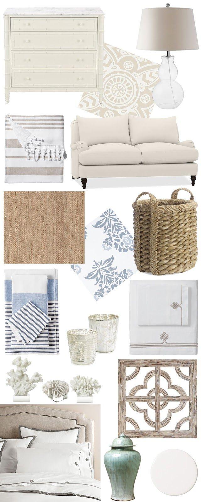 Coastal Decor white wicker simplistic furniture home decor