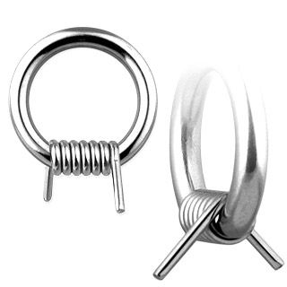 Sold as a pair Nipple Ring Barbwire Captive Bead Body Jewelry Pair 14 gauge