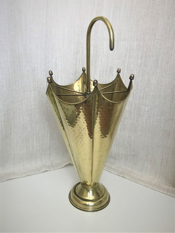 Brass Wood Umbrella Stand Copper Etsy Umbrella Stand Brass Wood Umbrella Holder