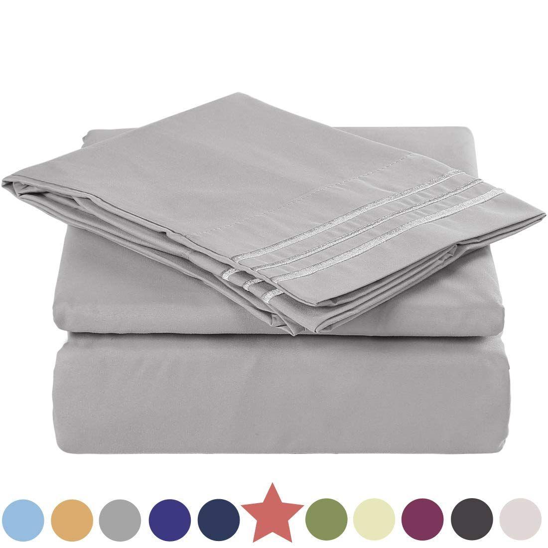Tekamon Premium Queen Size 4 Piece Bed Sheet Set 1800 Tc Bedding