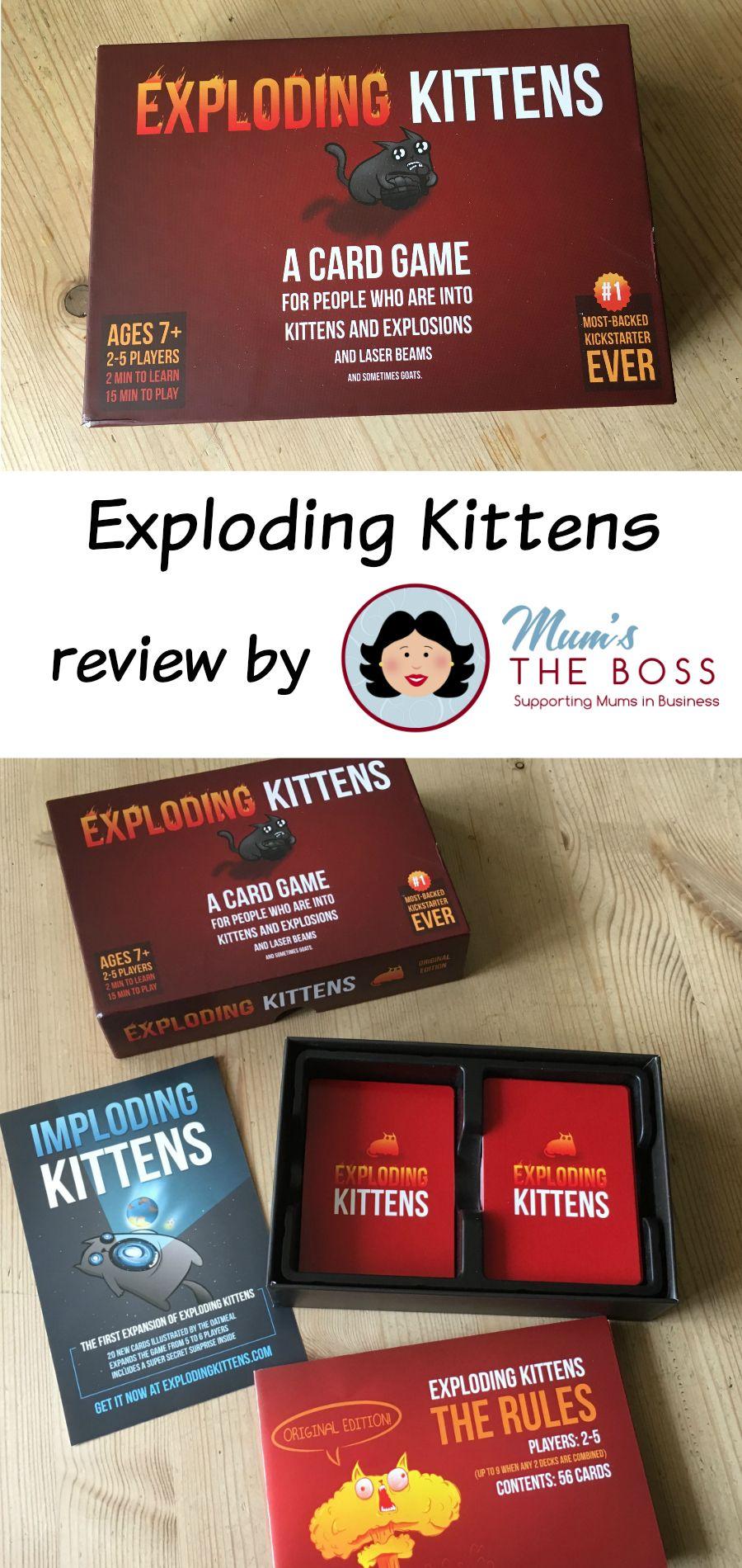 Family Games Night Review of Exploding Kittens Family