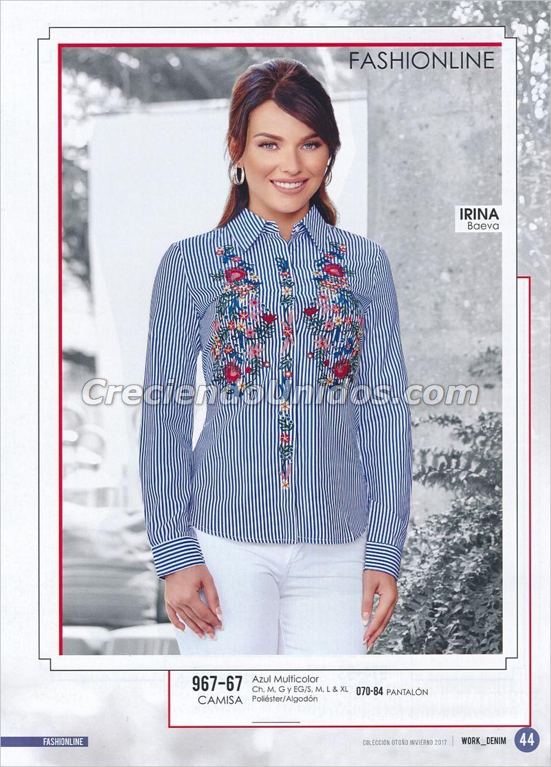 Fashionline Cklass  fashionline  fashionlinecklass blusas de mezclilla mujer 2cbc35e5c7edb