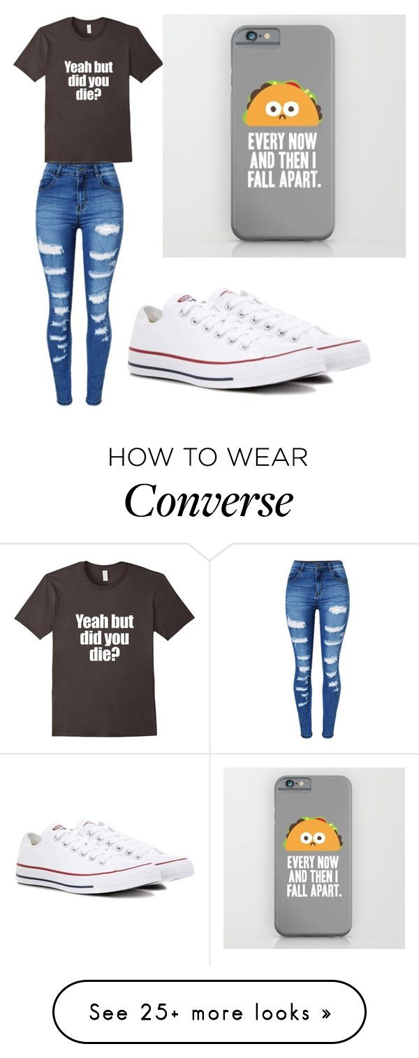 """""""Me 24/7"""" by kawaii-bean on Polyvore featuring WithChic and Converse"""