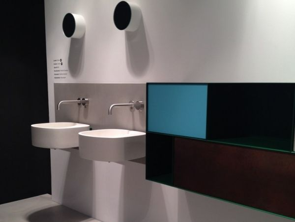 wandgehangtes waschbecken beton trendiges design, wandgehängtes waschbecken aus beton von moab 80 in trendigem design, Design ideen