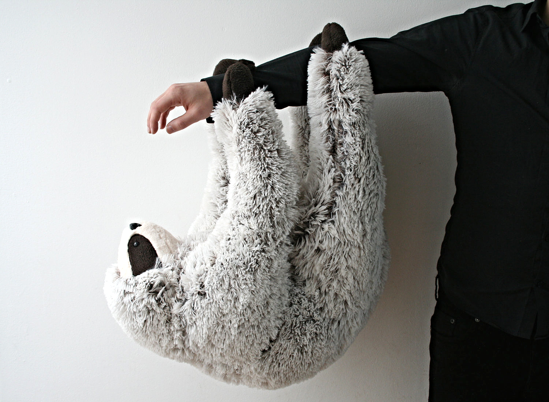 Sloth Stuffed Animal Plush Toy via Handmade Childhoods: The Blog by Fleur + Dot Handmade Stuffed Animal Handmade Doll Handmade Toys