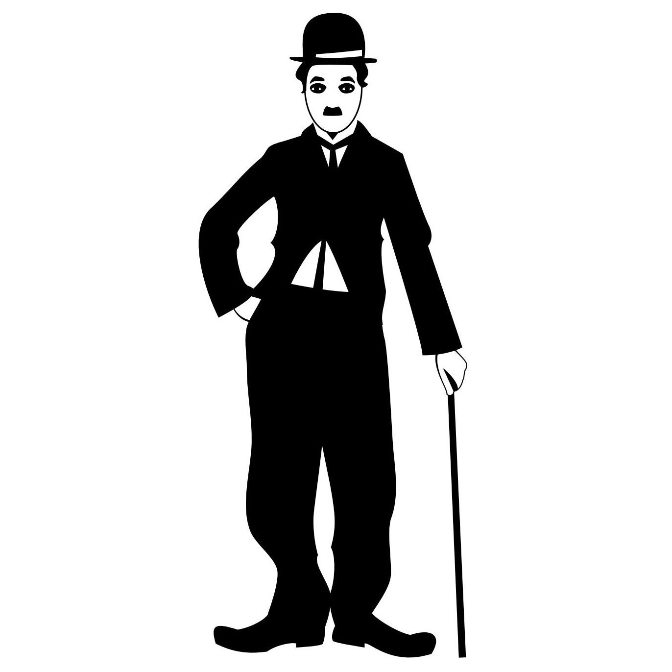 charlie chaplin portrait silhouettes vector pinterest portraits silhouettes and stenciling. Black Bedroom Furniture Sets. Home Design Ideas