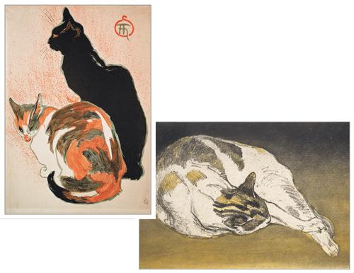 Steinlen Cats Assorted Notes Cat art, Shetland sheepdog